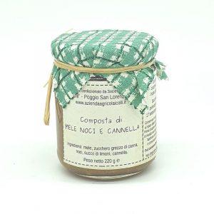 composta mele noci cannella