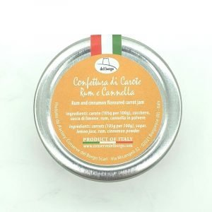 Confettura carote rhum e cannella